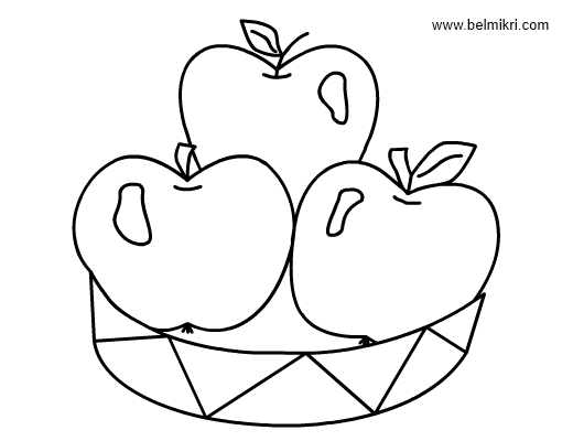 apples coloringpage