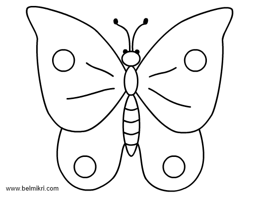 coloring pages rabbit butterfly - Butterfly Printable Coloring Page
