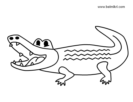 valentine coloring pages alligators - photo #17