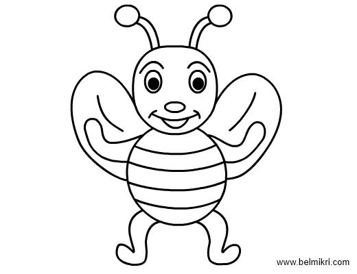 honeybee coloringpage