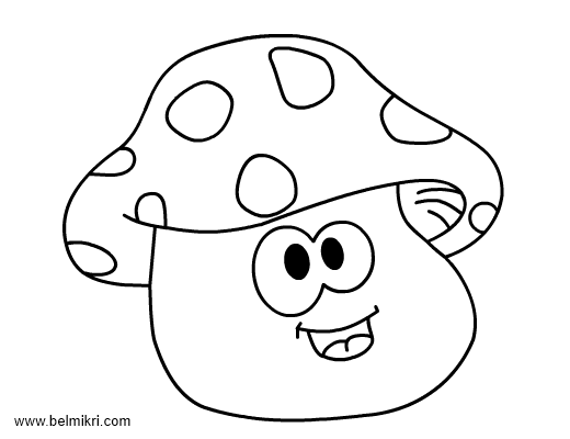 coloring pages mushrooms - photo#21