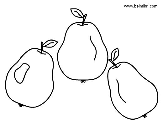 pears coloringpage