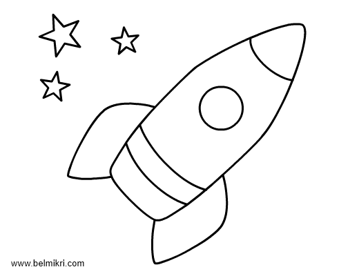 rocket - Print Colouring Pages