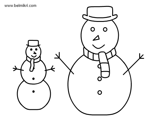 snowman shovel coloring pages - photo#30